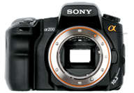 Sony Alpha 200 with no lenses