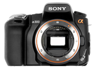 Sony Alpha 300 with no lenses