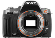 Sony Alpha 330 with no lenses