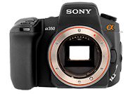 Sony Alpha 350 with no lenses