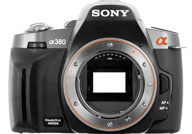 Sony Alpha 380 with no lenses