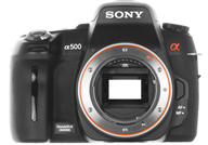Sony Alpha 500 with no lenses
