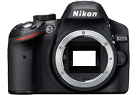 Nikon D3200 with no lenses