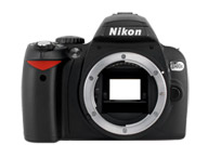 Nikon D40X with no lenses