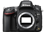 Nikon D600 with no lenses
