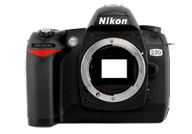 Nikon D70 with no lenses