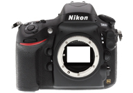Nikon D800 with no lenses