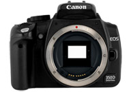 Canon EOS 350D, DIGITAL REBEL XT or Kiss Digital N with no lenses