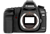 Canon EOS 5D Mark II with no lenses