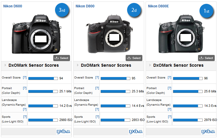 Nikon D600 sets high bar for sensor image quality - DxOMark
