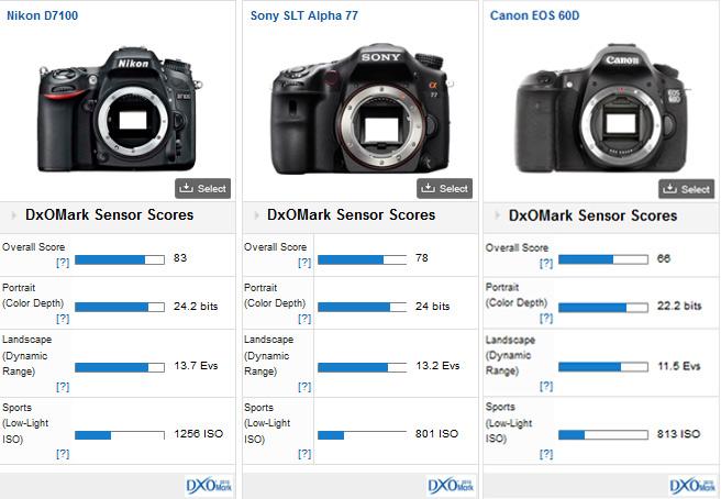 Nikon D7100 versus competition