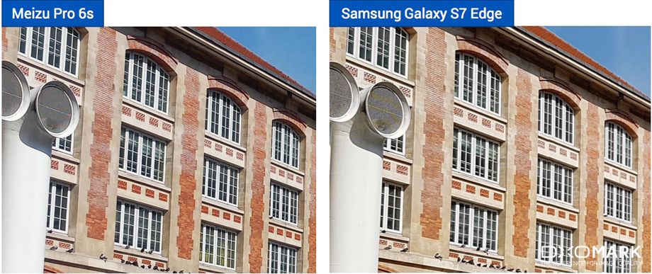 In bright light conditions, the Meizu Pro 6s's 12Mp sensor captures exceptional detail, with well-defined texture in the brickwork, to rival top performers such as the Samsung S7 Edge.